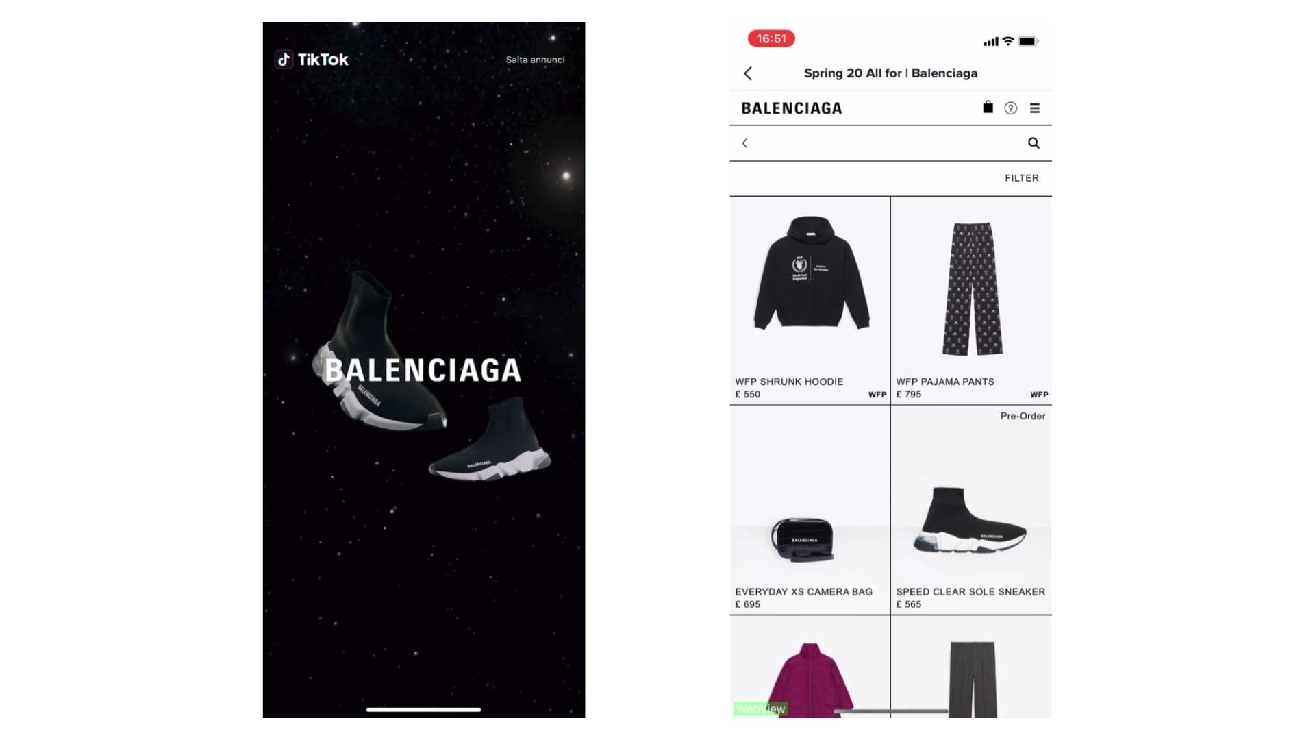 TikTok case study for Balenciaga