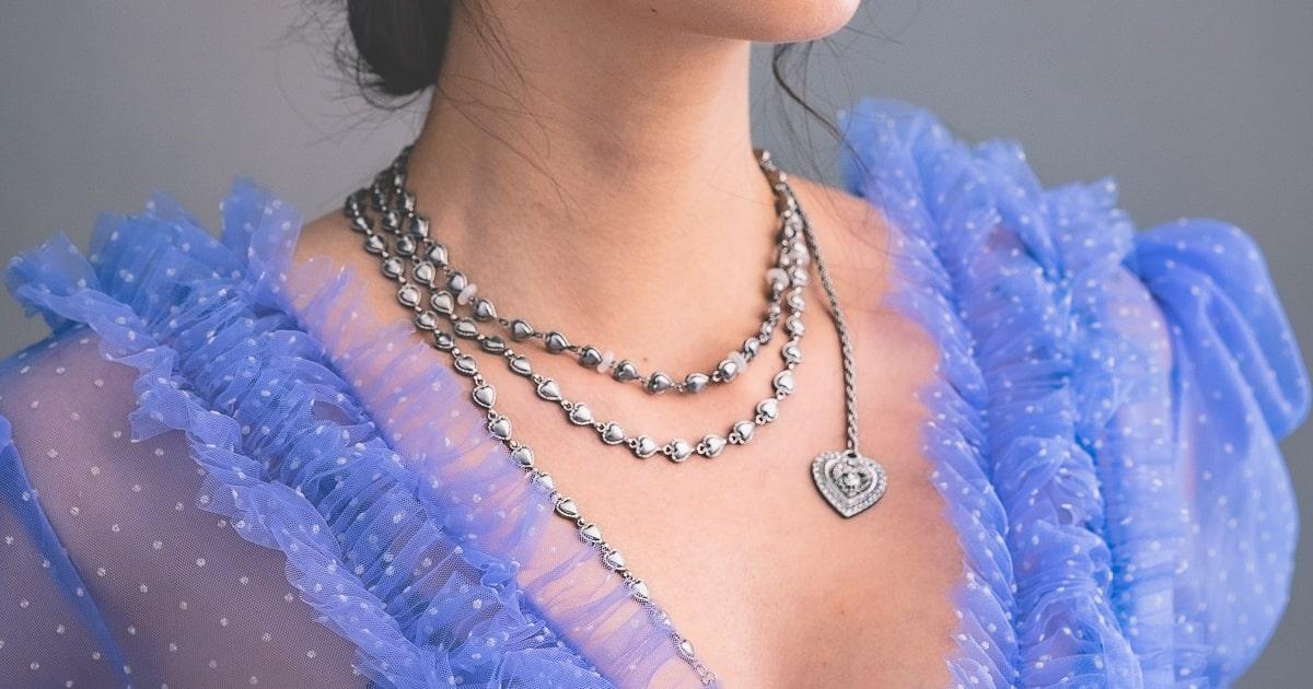 Gyp.so tatohearts silver necklace
